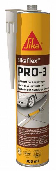 Sikaflex®PRO-3 Elastischer 1-K PU Hochleist.dichtstoff für Bodenfuge - 300 ml - betongrau