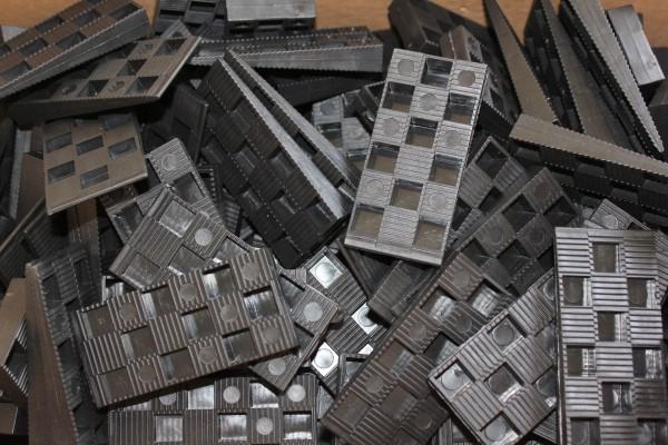 Kunststoffmontagekeil aus PP - beids. gezackt - 95x44x15 mm von PHI GmbH